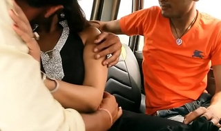 Bgrade indian desi babe has her boobs pressed in a car.
