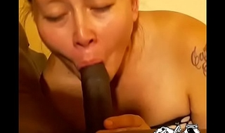 Pokahontas sucks the entire cock with the addition of swallows load