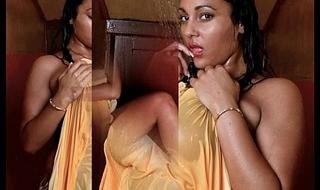 busty Urmila aunty displays her big boobs in shower