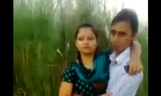 Desi Couple Romance Increased by Kissing In Fields Outdoor
