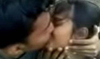 Hot Alfresco Kissing