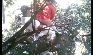 Indian aunty fucked into the open air
