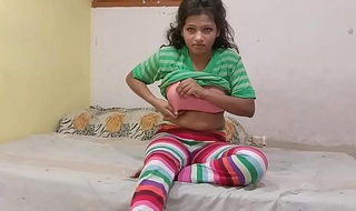 Indian Cousin sister In Jegging Rubbing Her muddy Pussy Asking Her Cousin Brother To Fuck Her